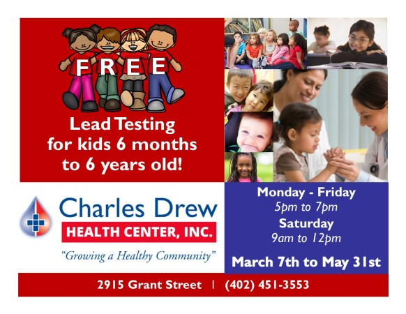FREE Lead Testing for Children 6 mos. to 6 yrs. – March 7th to May 31st
